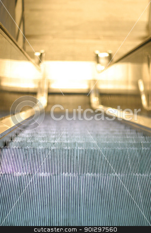 Escalator stock photo, looking down an escalator by Tyler Olson