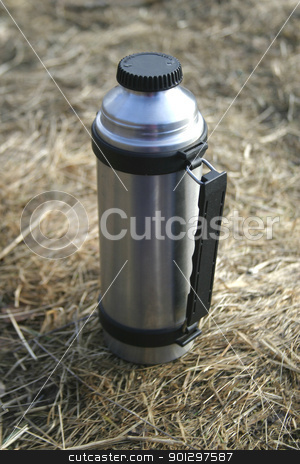 Stainless Steel Thermos stock photo, stainless steel container by Tyler Olson