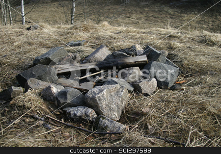 Fire Pit stock photo, Fire Pit surrounded by rocks by Tyler Olson