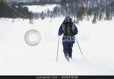 Skiiing stock photo, Skiing in the Mountains by Tyler Olson