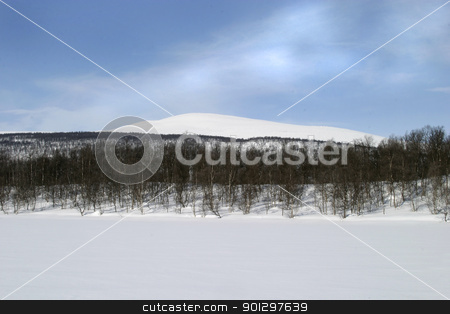 Winter Mountain stock photo, Mountain in the Winter by Tyler Olson