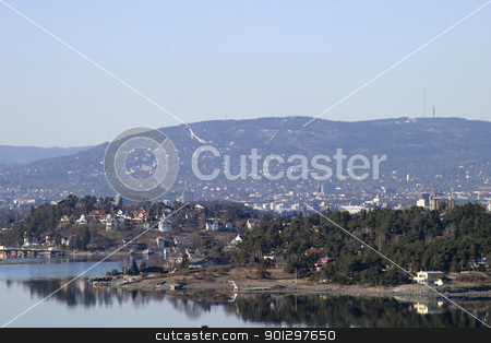 Oslo Fjord stock photo, Oslo Fjord on a Spring Day by Tyler Olson