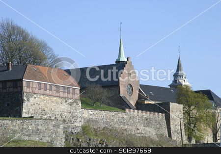 Akershus Festning stock photo, The fortress in Oslo Norway by Tyler Olson