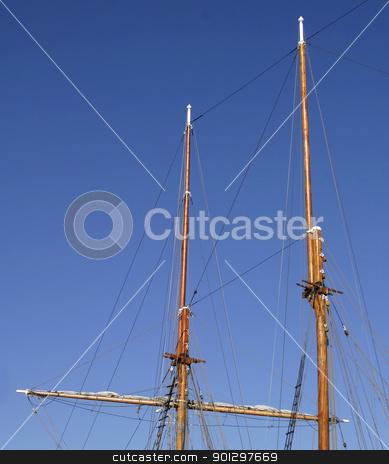 Ship Mast stock photo, Ship mast pole by Tyler Olson