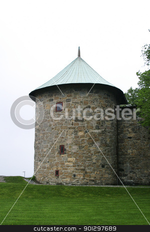 Turret, Akershus Festning stock photo, Turret detail at the Akershus Festning, Oslo, Norway. by Tyler Olson