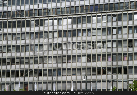 Repeating Windows stock photo, Repeating windows on an office building by Tyler Olson