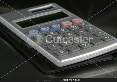 Calculator Detail stock photo, Small personal calculator detail with the 0 in focus by Tyler Olson
