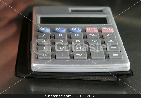 Calculator Detail stock photo, Small personal calculator detail by Tyler Olson