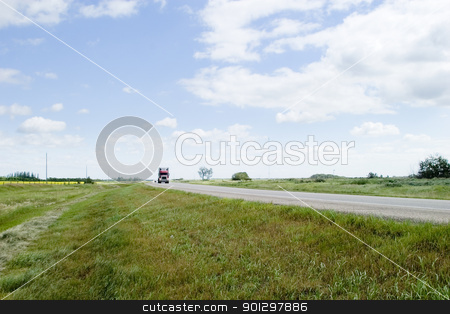 Prairie Highway stock photo, Highway on the prairies by Tyler Olson