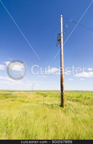 Prairie Sky Landscape stock photo, Prairie Lanscape with a vivid sky by Tyler Olson