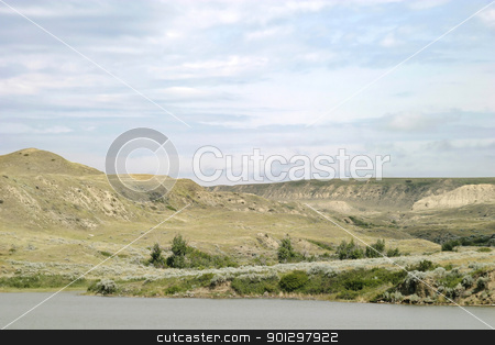 River Hills stock photo, South Saskatchewan River Hills, on Diefenbaker Lake, near Beaver Flat by Tyler Olson