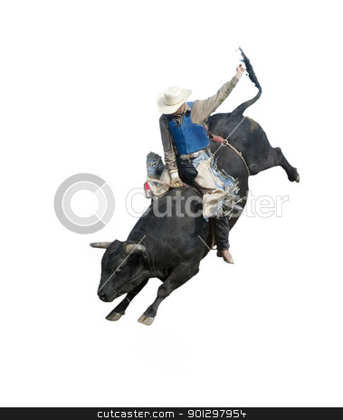 Bull Riding stock photo, Bull Riding at the Herbert Rodeo, Saskatchewan, Canada by Tyler Olson
