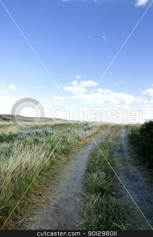 Small Dirt Road stock photo, A small dirt road on the prairies. by Tyler Olson