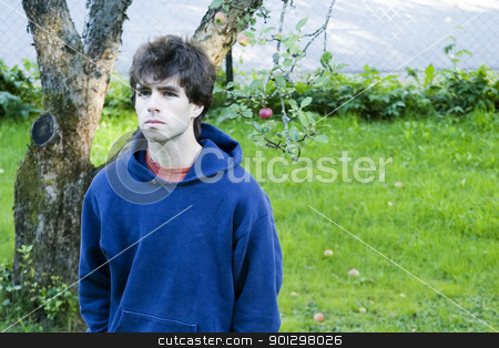 Lonely Wonder stock photo, A male looking up, with a wondering lonely look by Tyler Olson