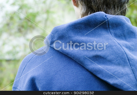 Male Abstract stock photo, An anonymous young male from behind by Tyler Olson