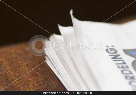 Newspaper Abstract stock photo, A small abstract detail image of a newspaper. by Tyler Olson