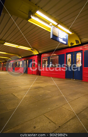Subway Abstract stock photo, Subway abstract for the Oslo subway system by Tyler Olson