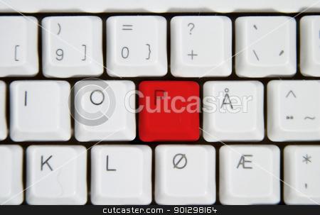 Computer Keyboard Letter P stock photo, Isolated letter P on from a computer desktop keyboard. by Tyler Olson