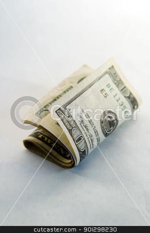 American Twenty Dollar Bills stock photo, Roll of American Twenty dollar bills. by Tyler Olson