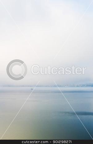 Fog and Ocean stock photo, Fog on the Ocean by Tyler Olson