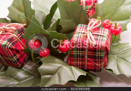 Christmas Decoration stock photo, Mistletoe and Presents Christmas Decoration by Tyler Olson