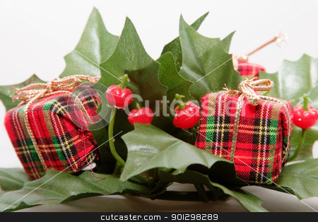Christmas Decoration stock photo, Mistletoe and Presents Christmas Decoration by Tyler Olson