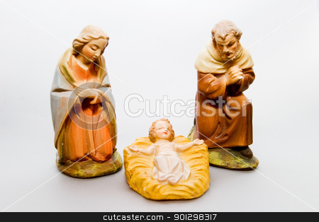 Mary Joseph Christ stock photo, Mary and Joseph with the christ child. by Tyler Olson