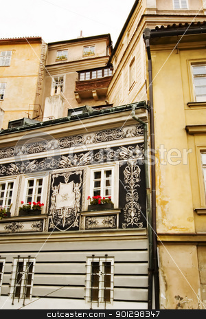 Small Street - Prague stock photo, A small skinny street detail in the old town area of Prague, Czech Republic. by Tyler Olson