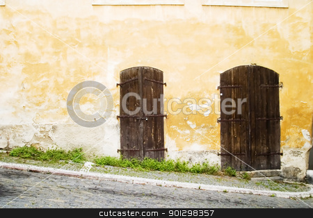 Abstract Wall stock photo, A window detail abstract, of a old architecture in Prague. by Tyler Olson