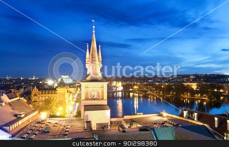 Night Cityscape - Prague stock photo, Night cityscape in Prague, Czech Republic. by Tyler Olson