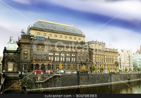 National Theatre stock photo, That National Theatre in Prague, Czech Republic. by Tyler Olson