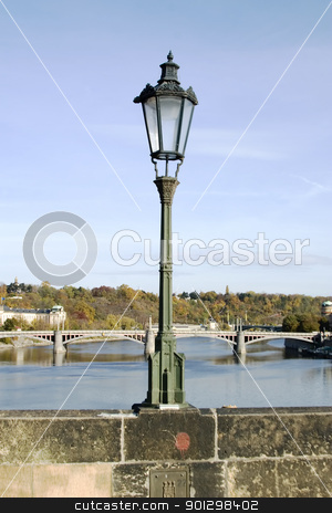 Lamp Post Detail - Prague stock photo, Charles Bridge lamp post detail, Prague, Czech Republic. by Tyler Olson