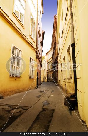 Quaint Street Prague stock photo, A quaint tiny alley (retezova) in Prague, Czech Republic by Tyler Olson
