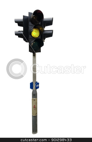 Traffic Light Isolated stock photo, An isolated traffic light from Prague with the green light showing by Tyler Olson