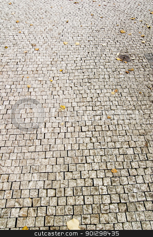 Cobblestone stock photo, Cobblestone texture in Prague. by Tyler Olson