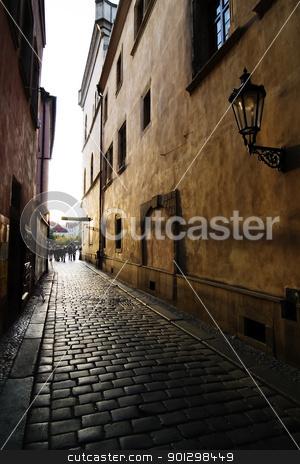 Small Street stock photo, A small street in Prague, Czech Republic. by Tyler Olson