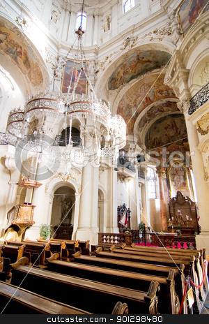 Church of St. Nicholas stock photo, Church of Saint Nicholas in Prague, Czech Republic. by Tyler Olson