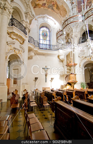 Renaissance Church stock photo, Church of Saint Nicholas in Prague, Czech Republic. by Tyler Olson