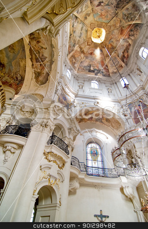 Church of St. Nicholas stock photo, Church of Saint Nicholas in Prague, Czech Republic. by Tyler Olson