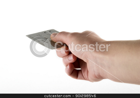 Credit Card Payment stock photo, Paying with a credit card, over a white background by Tyler Olson