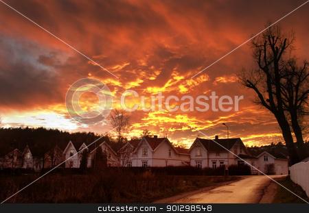 Dramatic Clouds stock photo, Dramatic sundown in Fredrikstad Norway. by Tyler Olson
