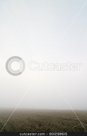 Prairie Fog stock photo, Prairie fog landscape by Tyler Olson