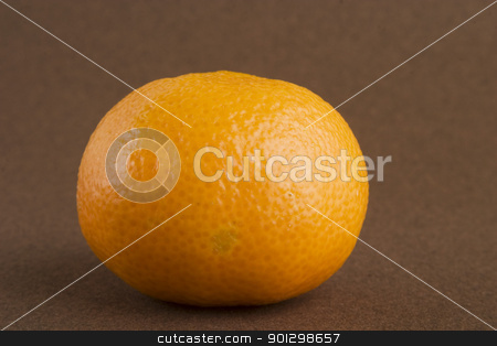 Christmas Orange stock photo, A single orange on a dark background by Tyler Olson