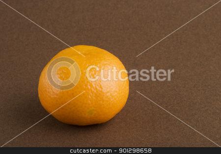 Christmas Orange stock photo, A single orange on a dark background by Tyler Olson
