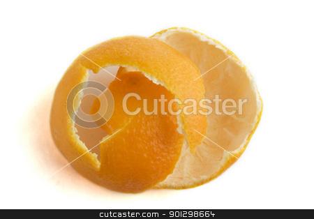 Orange Peel stock photo, Orange peel on a white background by Tyler Olson