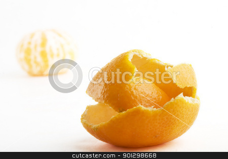 Orange Without peel stock photo, An orange with it's peel by Tyler Olson