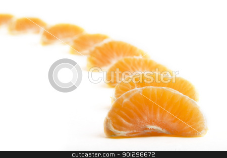 Orange Row stock photo, A row of christmas orange slices by Tyler Olson