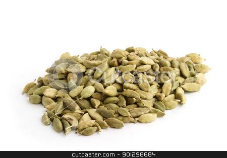 Bulk Cardamom stock photo, Cardamom ( Elettaria cardamomum) by Tyler Olson