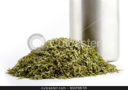 Bulk Parsley stock photo, Bulk dried parsley (Petroselinum crispum)  flakes by Tyler Olson