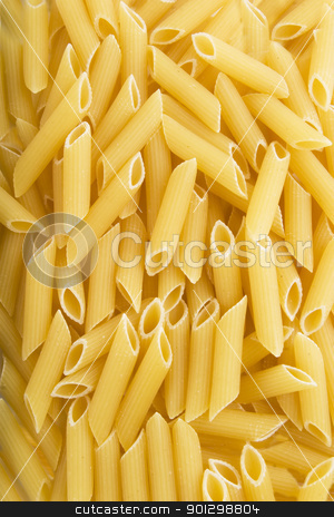 Penne Rigate Texture stock photo, Penne Rigate pasta background texture by Tyler Olson